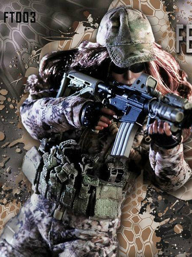 In-Stock FeelToys 1/6 FT003 Tactical female shooter series (no head/body)
