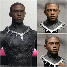 1/6 Scale Black Panther T ' Challa Head Sculpt For Hot Toys Phicen 12in Figure