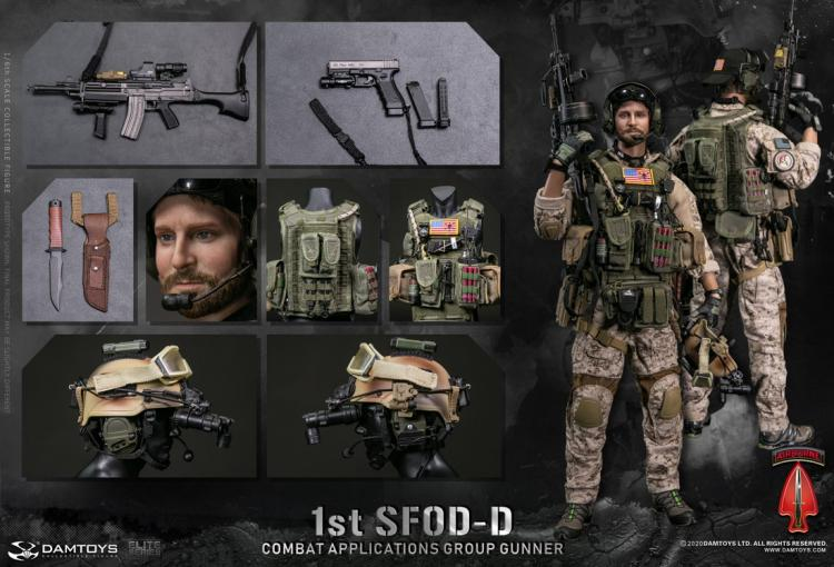 Pre-order 1/6 Scale DAMTOYS 1st SFOD-D Combat Applications Group GUNNER 78074