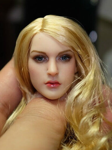 KIMI 1/6 KT007 Female Head Sculpt Elegant Blondie Sex Girl H#Suntan
