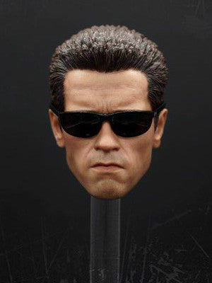 In-Stock 1/6 Scale Arnold Schwarzenegger 4 T800 Head Sculpt With Glasses