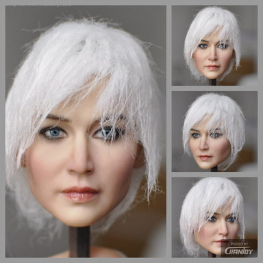 In-Stock KUMIK 1/6 Head Sculpt Model Short Hair 18-37 Jennifer Shrader Lawrence