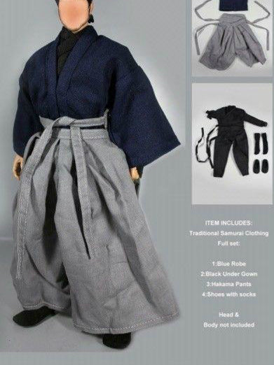 In-Stock Dollsfigure 1/6 Scale Samurai Clothes Set For 12'' Action Figure Hakama