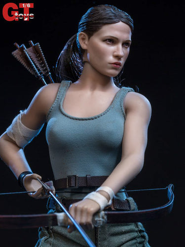 Pre-order 1/6 Scale GTToys The Explorer Tomb Raider Lara Two Head Sculpt Clothes Set