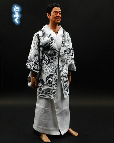 1/6 Scale Traditional Japanese Kimono Wedding Suit Muku Yukata