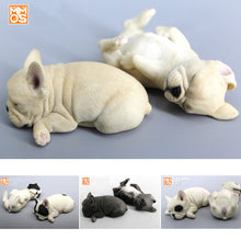 1/6 Scale 2 PCE Resin The simulation animal Sleeping French bulldog