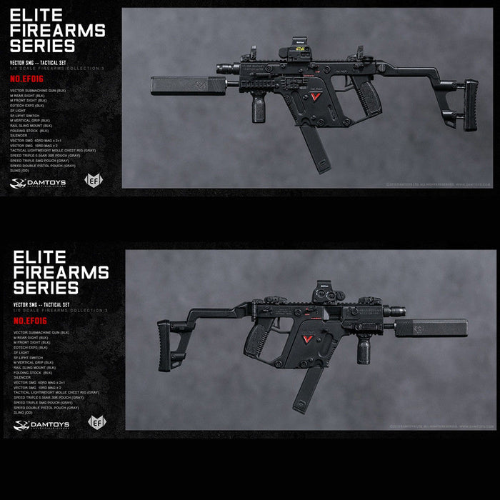 In-stock 1/6 DAMTOYS EF012-EF018 ELITE FIREARMS SERIES TACTICAL SET