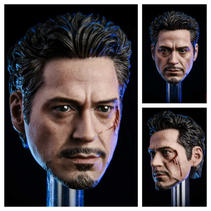 1/6 Tony Stark Iron Man Head Collection For MK45 Hot toys In-Stock