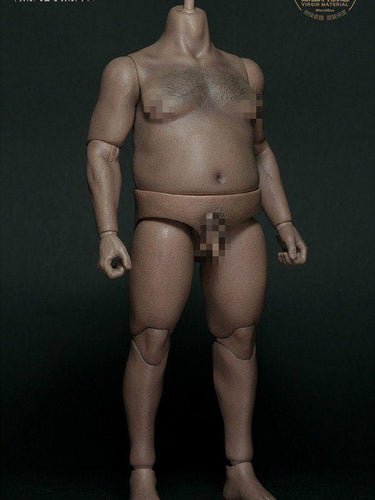 In-Stock WorldBox 1/6 Durable Male Figure Fat Plump Body AT018