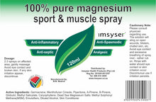 IMSYSER 100% Pure Magnesium Sport & Muscle Spray 120ml