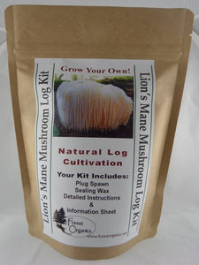 Lion's Mane Mushroom Log Growing Log Kit