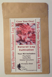 Pink Oyster Mushroom Log Growing Log Kit