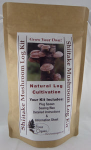 Shiitake Mushroom Log Growing Log Kit