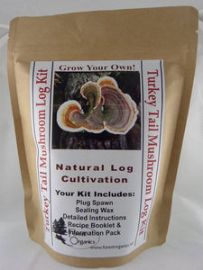 Turkey Tail Mushroom Log Growing Log Kit