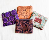 African Vintage Fabric Pouch Set