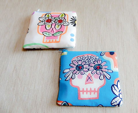 Day of the Dead Skeleton Pouches