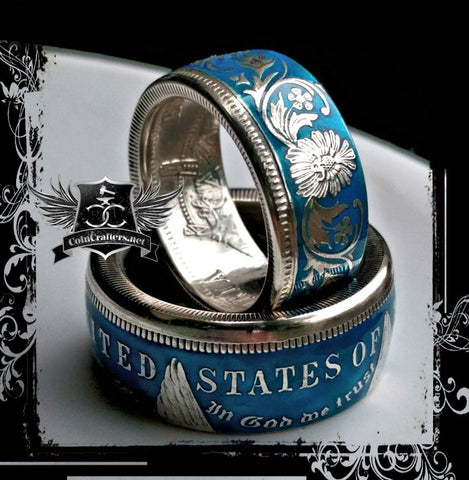 cc_British India Silver Rupee Coin Ring