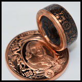 cc_Copper Coin Ring - The Bank Note - Ben Franklin - Mens Ring - Mens Gift