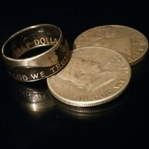 cc_Ben Franklin Coin Ring - Handcrafted Half Dollar Rings