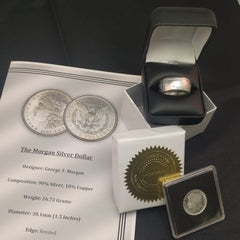 Coin Ring Gift Set - Morgan Silver Dollar Coin Ring