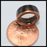 cc_Copper Coin Ring - Liberty or Death - Patrick Henry - Mens Ring - Mens Gift