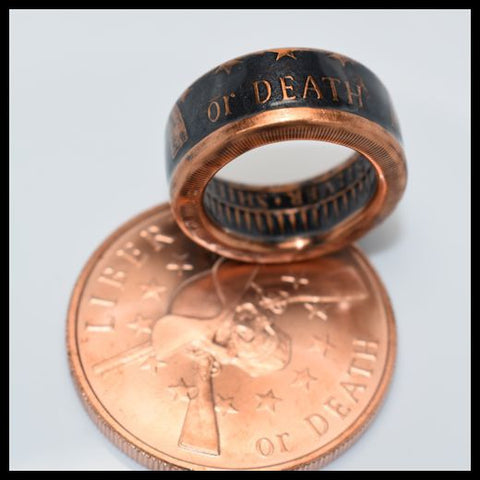 cc_Copper Coin Ring - Liberty or Death