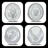cc_Colorized Military Coin Rings - Army - Navy - Marines - Air Force
