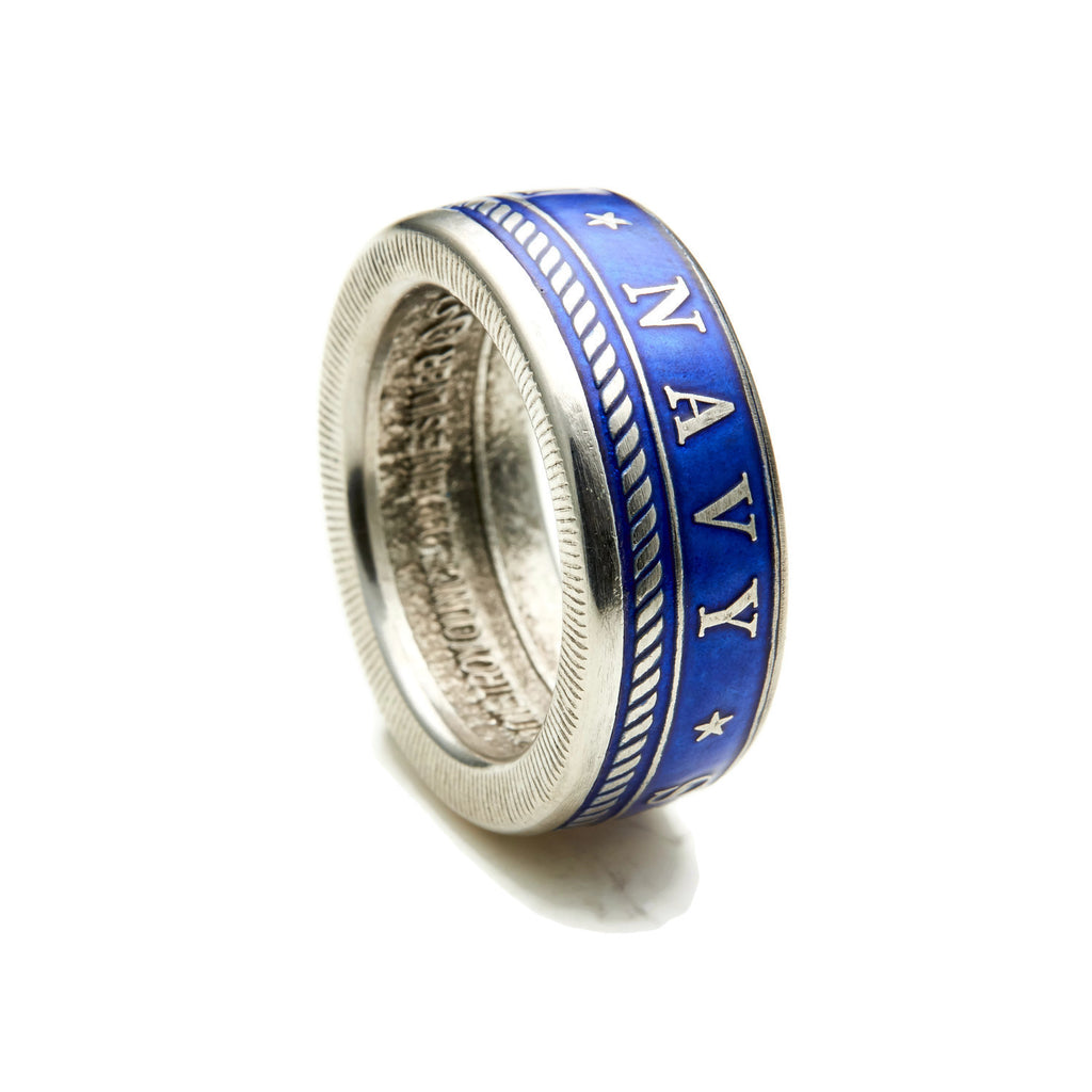 Colorized Military Coin Rings - Army - Navy - Marines - Air Force