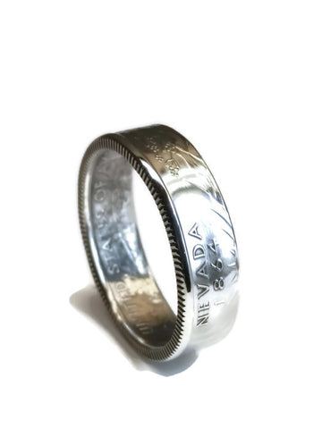 cc_Silver State Quarter Coin Ring - Handcrafted Jewelry