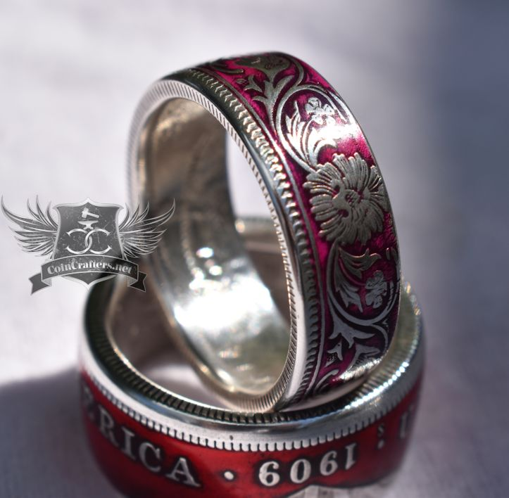 British India Silver Rupee Coin Ring