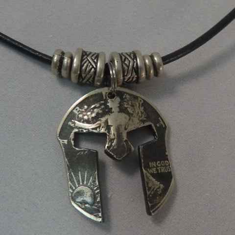 cc_Spartan Mask Coin Necklace