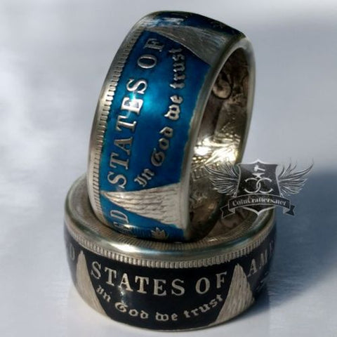 cc_Colorized Morgan Silver Dollar Coin Ring
