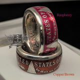 cc_SALE! Colorized Morgan Silver Dollar Coin Ring