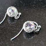 Clear Crystal Ball Earrings