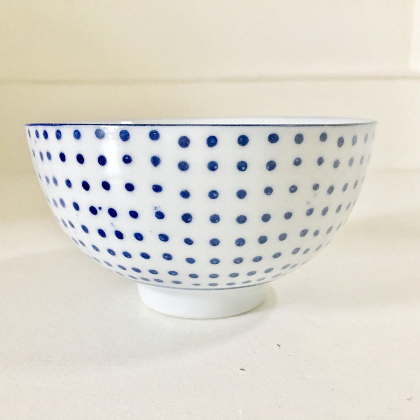 Hand Painted Polka Dot Bowl