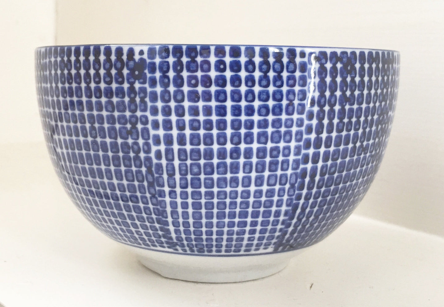 Hand Painted Square Dot Bowl