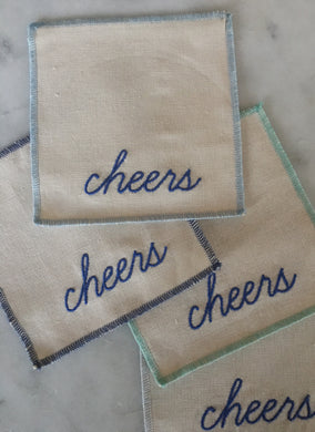 Cheers Cocktail Napkins / Coasters - Shades Of Blue