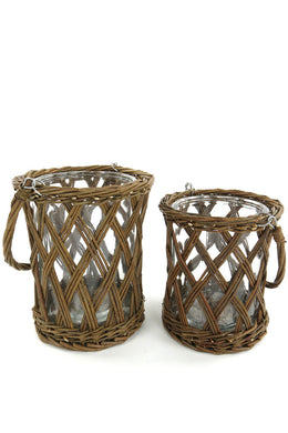 Wicker Hurricane or Vase