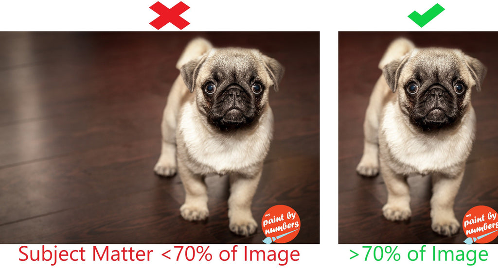 Subject Matter should take up 70% of image