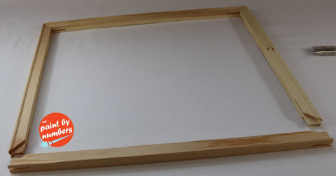 DIY Frame and Stretcher Bars for Canvas Paint by Number kit