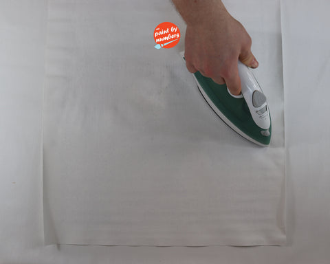 iron canvas to get wrinkles out paint by number kit