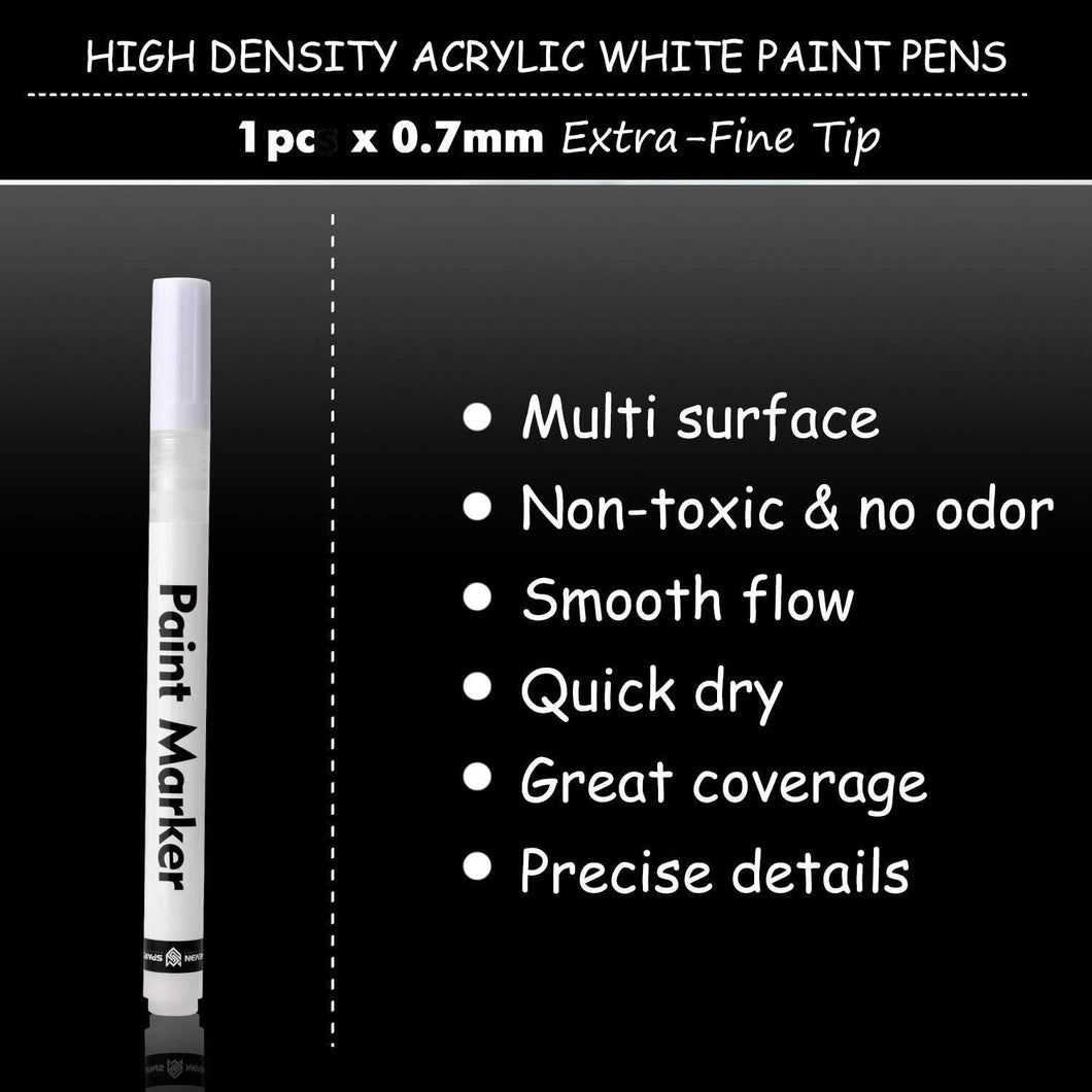 White Paint Marker - Cover Paint by Numbers