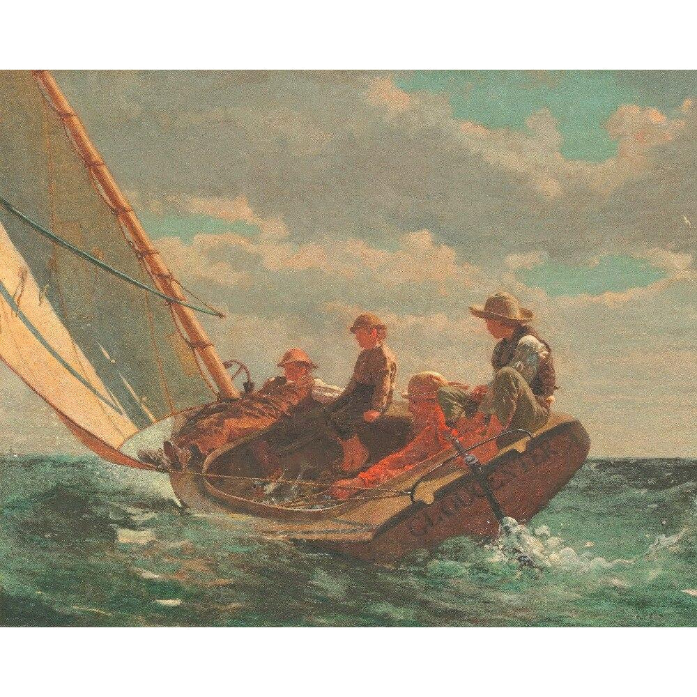 DIY Paint by Number kit for Adults on Canvas-A Fair Wind - Winslow Homer - 1876-