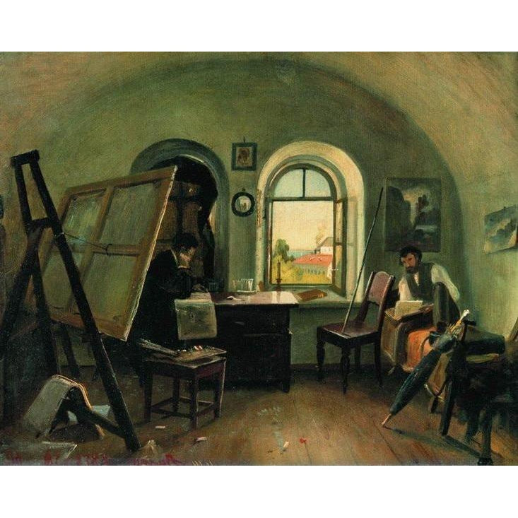A Guinet in the Studio on the Island of Valaam - Ivan Shishkin - 1860 - Paint by Numbers Kit