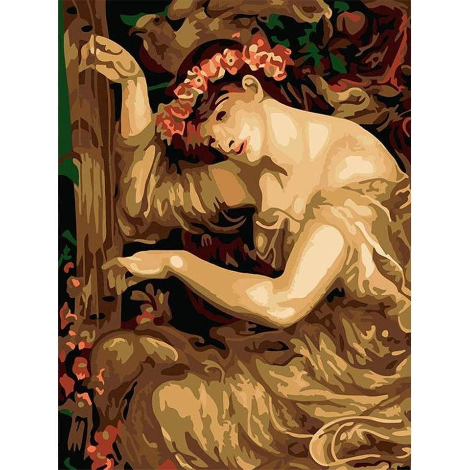 DIY Paint by Number kit for Adults on Canvas-A Sea–Spell - Dante Gabriel Rossetti-Clean PBN