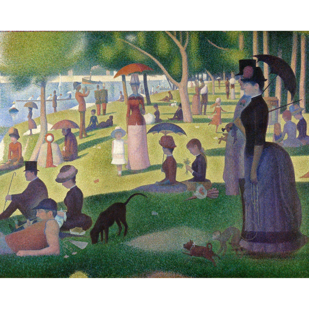 DIY Paint by Number kit for Adults on Canvas-A Sunday on La Grande Jatte - Georges Seurat - 1884-Home