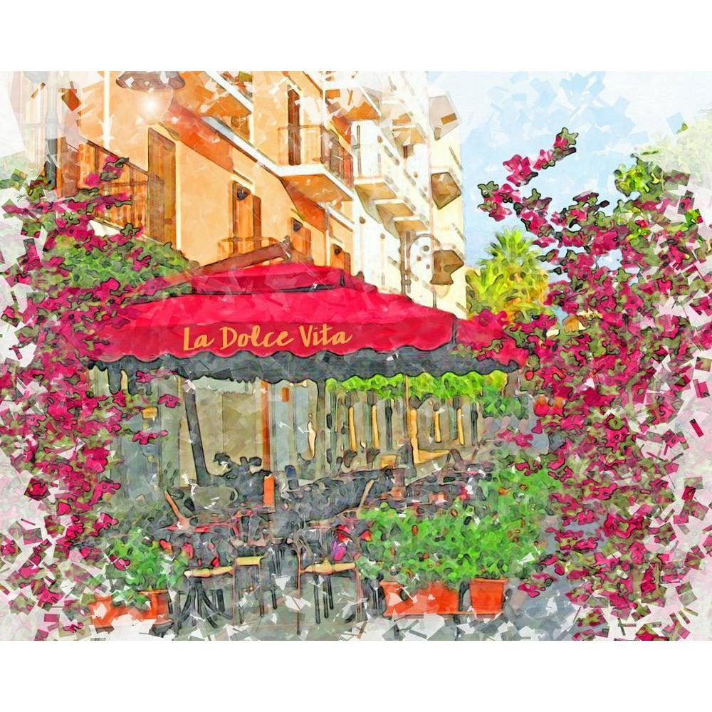 DIY Paint by Number kit for Adults on Canvas-A Taste of Italy-Home