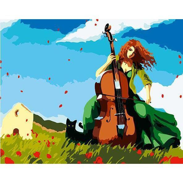 DIY Paint by Number kit for Adults on Canvas-All about that Double Bass-40x50cm (16x20inches)