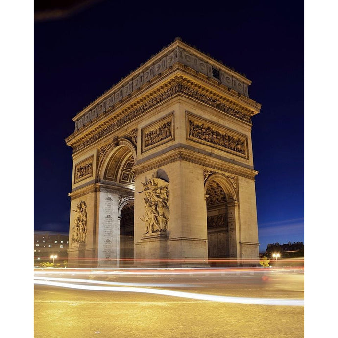 DIY Paint by Number kit for Adults on Canvas-Arc de Triomphe-Clean PBN