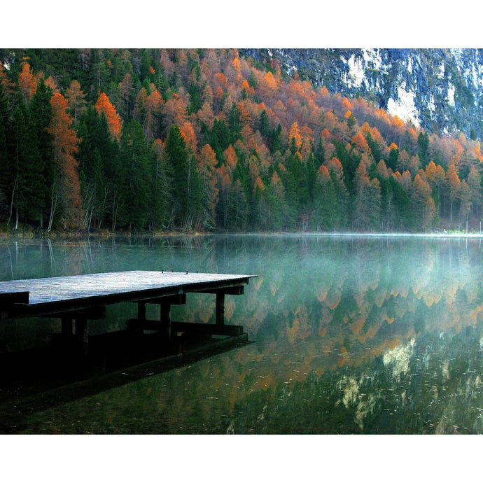 DIY Paint by Number kit for Adults on Canvas-Autumn Fog on the Lake-Home